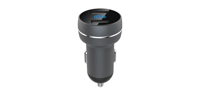双USB智能数显车载充电器SN-309-03