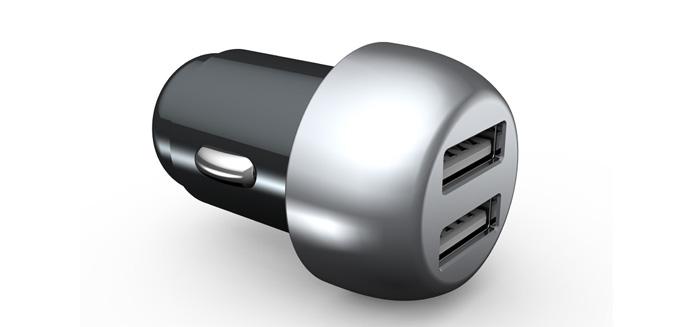 锌合金车载充电器   车充PD+QC3.0