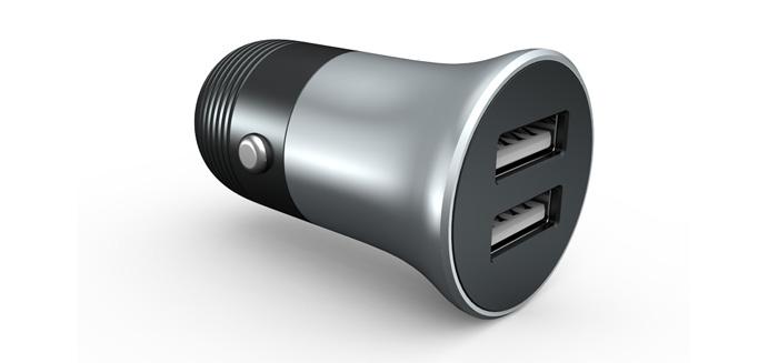 双USB车充  车载充电器2.4A  车充