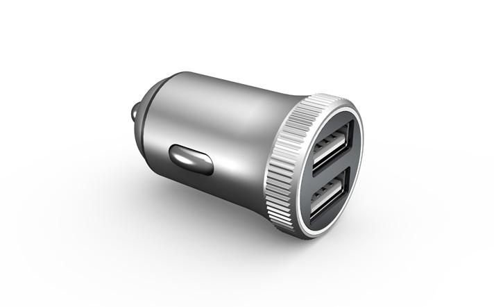 迷你铝合金车载充电器PD18W+QC
