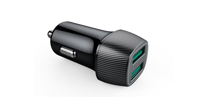 新款车载充电器双USB QC3.0快充
